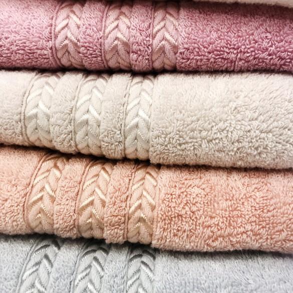 Косичка полотенце лицо